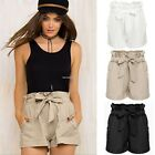 WOMEN SEXY HOT PANTS SUMMER CASUAL SHORTS ELASTIC HIGH WAIST SHORT FASHION S-XXL