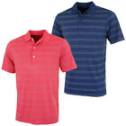 Greg Norman 2016 Mens K321 Seasonal Micro Pique Stripe Golf Polo Shirt