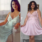 Plus Size Lingerie Sz 1X or 2X Lt Pink or Mint Green Lace Bodice Chemise 1048X