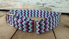 Purple Chevron designer dog collar, martingale collar with leash set option