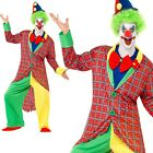 Adult American Circus Clown Costume LA Clowns Mens Comedy Fancy Dress Outfit