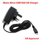 3 Pin Micro USB UK Mains CE ROHS AC Wall Charger For Android Smart Mobile Phones