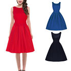 New Women 50s 60s Vintage Evening Rockabilly Bridesmaid Swing Casual Dress