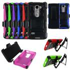 Phone Case For Straight Talk LG Rebel 4G LTE Rugged Cover Stand Combo Holster
