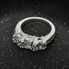 Fashion Women Silver Plated Crystal Rhinestone Wedding Ring Jewelry Hot Size6-9