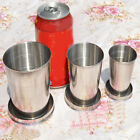 1Pcs Stainless Steel Outdoor Portable Travel Folding Cup Collapsible Telescopic