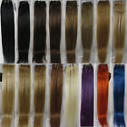 "More Colors New AAA 32"" Remy Human Hair Weft Extensions Straight 100g Width 59"""