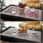 Amazing Table Runners Tablecloths 60 x 120cm Cream Burgundy Home Decorations New