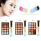 15 Colors Cream Concealer With Makeup Brush and Sponge Powder Puff G7Z5