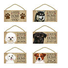 """5"""" x 10"""" Decor Hanging Wood Sign Plaque House is not a Home without a Dog"""