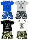Boys Player College T-Shirt & Army Camo Combat Pocket Shorts Set 2 to 14 Years