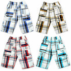 Boys 2016 Modern Checked Combat Pocket Fashion Summer Shorts 3 to 12 Years