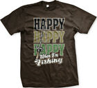 Happy Happy Happy When I'm Fishing Fisherman Bass Striper Mens T-shirt