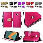 For HTC M10 Shiny Bling Premium PU Leather Wallet Flip Cover Case