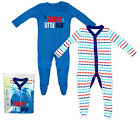 Boys Baby Daddys Little Man Pack of 2 Sleepsuits Rompers Newborn to 24 Months