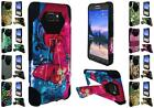 For Samsung Galaxy S7 Active Design Hybrid Dual Layer T Kickstand Cover Case