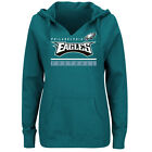 Majestic Philadelphia Eagles Women's Green Self-Determination Pullover Hoodie