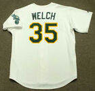 BOB WELCH Oakland Athletics 1989 Majestic Throwback Home Baseball Jersey on Ebay