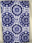 Assorted Sizes Dark Blue & White Medallion Vinyl Tablecloth NEW FREE SHIPPING