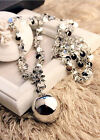 2015 Fashion Shiny Metal Ball Pendant Sequins Sweater Chian Necklace Statement