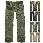 PODOM Herrenmode Pants Militär Trousers Jeans Army Freizeithose Cargo Hose