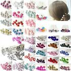 10 / 20pcs Rose Flower Crystal Wedding Party Bridal Prom Star Hair Pin Clips