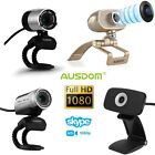 AUSDOM 1080P Full HD USB Webcam Video Network Camera w Mic for PC Skype 4 Model