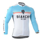 New Mens Cycling 3 Pockets Tops Long Sleeve Jerseys Bicycle Clothing Polyester
