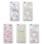 Cute Drawing Patterned Thin TPU Phone Case protection For iPhone5/5s/6/6plus