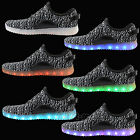 Girl Boy Adult LED Lights Luminous Shoes Sports Lace UP Trainers Casual Sneaker