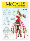 PATTERN McCALLS Sexy Cosplay Corsets Crown Hoop Pant Collars 6 to 22 SEWING 7306