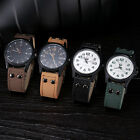 Vintage Mens DAILY Waterproof Date Leather Strap Sport Quartz Army Watch New