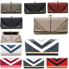 WOMEN'S FAUX LEATHER PURSES CELEB KISS LOCK LADIES PURSE WALLET BAG WITH GIFT BO