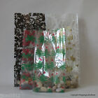 10 Christmas Cello Gift Bags *Choose Pattern & Size* Wedding Favours /Cellophane