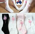 Girls Winter Ballerina Ballet Dance Tights Stockings Socks Sizes 1 - 11