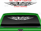 #116 FIRE RESCUE Tribal Flame Vinyl Windshield Design Graphic Sticker Decal Car