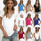 Fashion Women's Loose Pullover T Shirt Short Sleeve Cotton Tops Shirt Blouse New