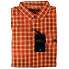 Mens Ben Sherman Orange Laundered Check Print Indie Mod Fit Shirt L/S Size S-4XL