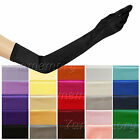 """25 Colors 23"""" Stretch Satin Bridal Evening Opera Prom Over Elbow Long Gloves"""