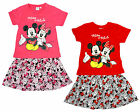 Girls Baby Disney Mickey & Minnie Mouse T-Shirt Top & Skirt Set 6 to 23 Months