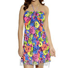 Freya Swimwear Floral Pop Bandeau Dress Rainbow 3259 NEW Select Size