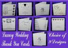 LUXURY WEDDING THANK YOU for the GIFT CARDS pack 10 / 12 silver gold cream white