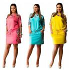 Summer Women Half Sleeve Floral Dress Party Cocktail Plus Size Casual Dress