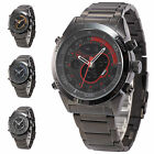 Shark LCD Digital Date Day Alarm Analog Quartz Military Men Sport Wrist Watch