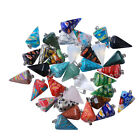 5x Hot Sale Lots Mixed Color Six Cone Shaped Lampwork Glass Pendant Findings BS