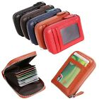 PU Leather Holder ID Card Mens Wallet Purse Womens Clutch Black Case Bag B20E