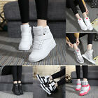 Women Lady Casual High Top Sport Shoes Velcro Fashion Sneaker elevator shoes Hot