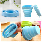 Portable Silicone Retractable Folding Cup Telescopic Outdoor Travel Hiking New
