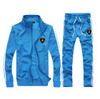 man Full TrackSuit Jogging Top Bottom sport Suit sets pants trousers strip Fall
