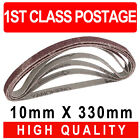 5 Pack 10mm x 330m Sanding Belts for Power File Air File Power Sanders All Makes